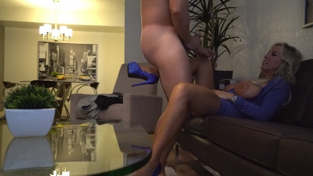Real husband and blonde wife homemade
