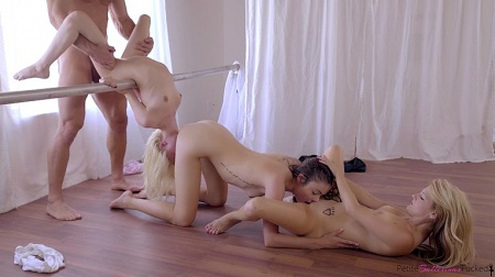 Three ballerinas fucked hard
