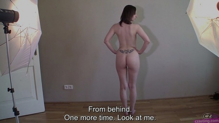 Russian girl Lenka on casting