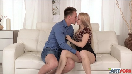 Anal creampie with sexy russian blonde