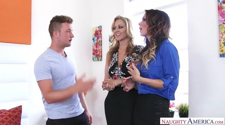 Seduced by cougar, two moms Jessica Jaymes and Julia Ann
