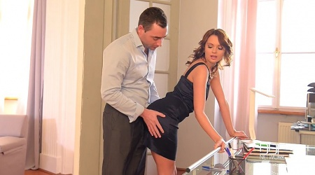 Sexy russian secretary, anal fuck at office