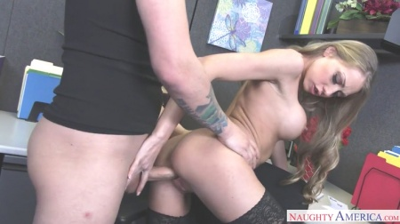 Naughty office bitch fucks boss