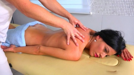 Russian girl hard fucking with a massage