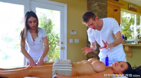 Massage is surprised with a huge cock