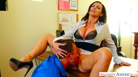 Busty milf Nikki Benz fucked in an office