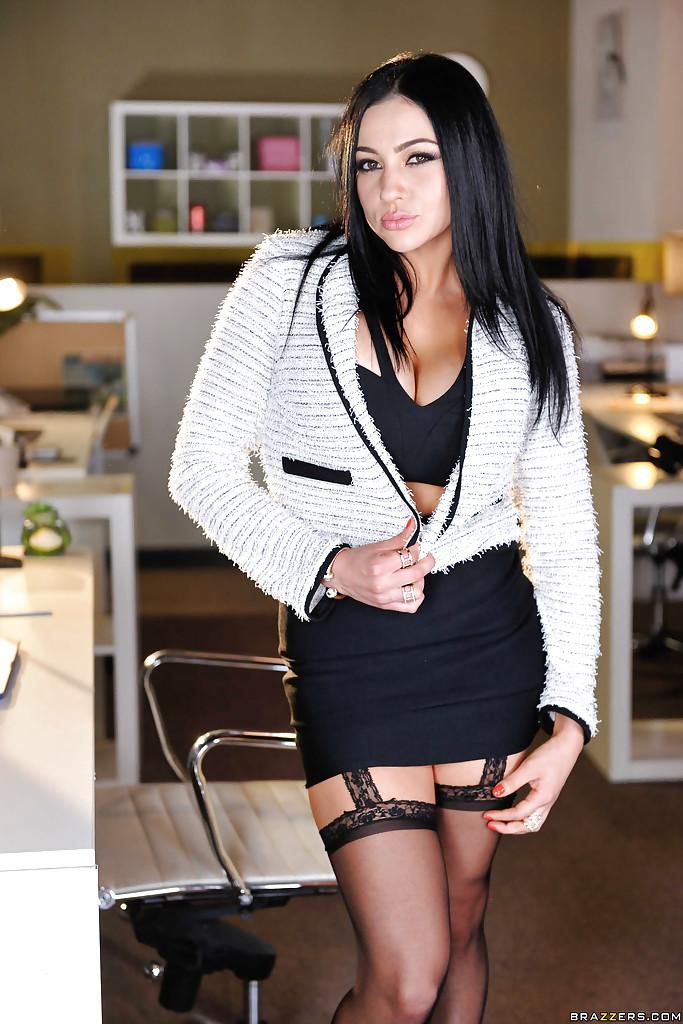 Amazing pornstar Audrey Bitoni in black stockings - Free